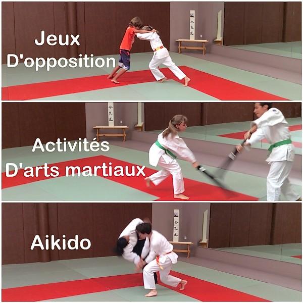 Activités enfants : jeux d'opposition , activités d'arts martiaux , aikido .